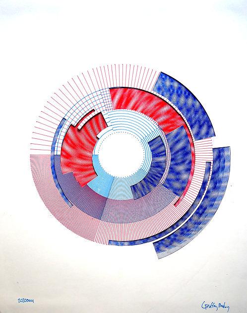 Circles on Circles - Framed Poster