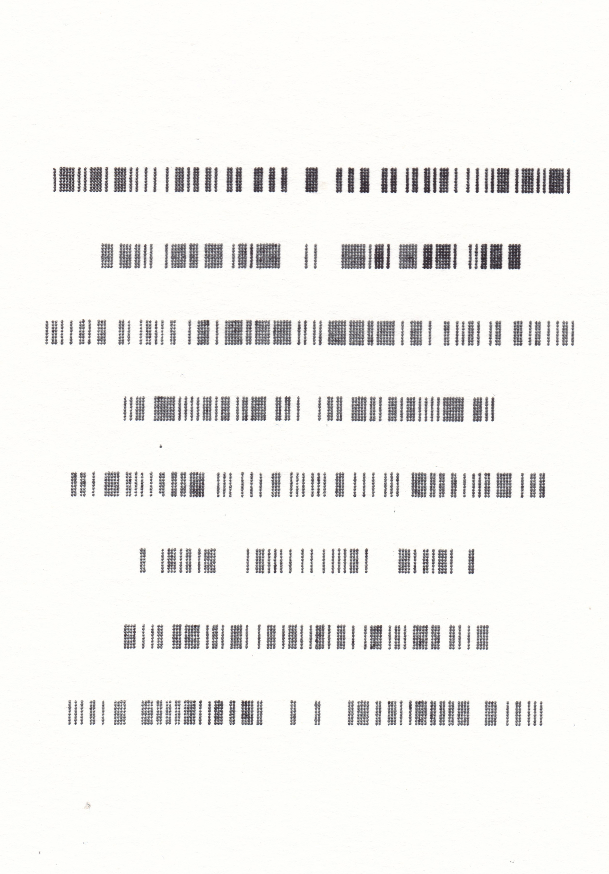 Deconstructed Barcodes