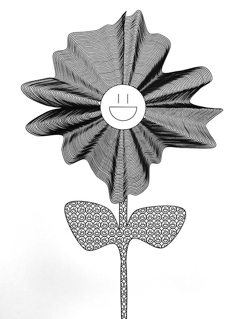 Happy Flower - Poster