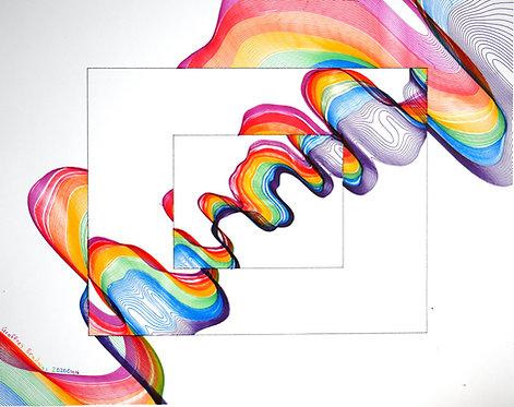 Fragments of Spectral Color - Framed Poster