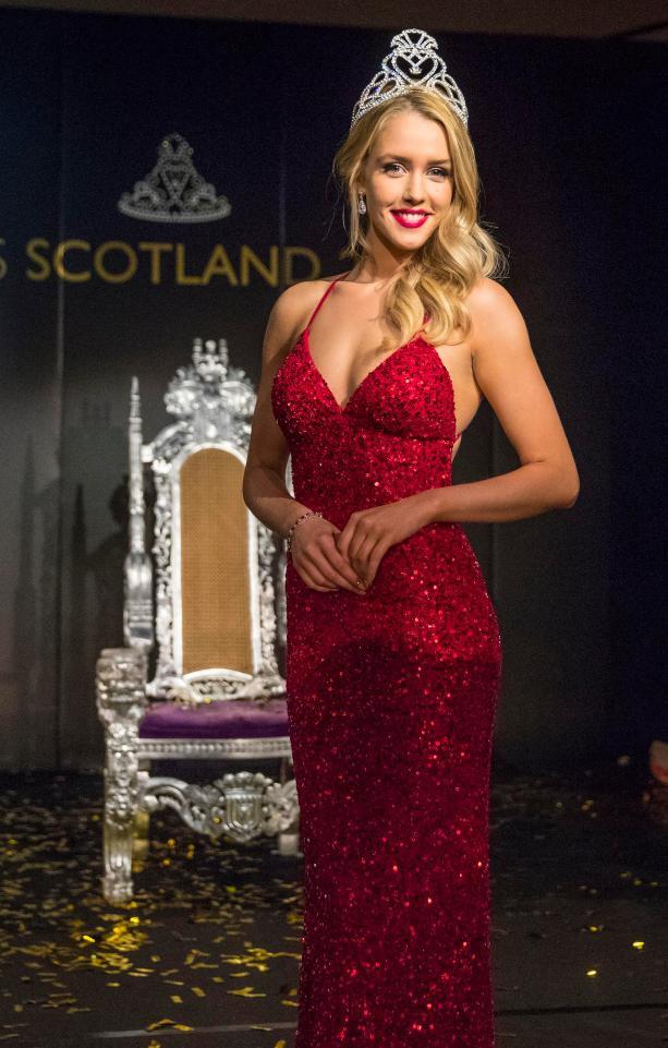 Romy Cahill winner of Miss Scotland 2017