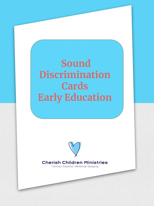 Early Education Sound Discrimination Cards Pack