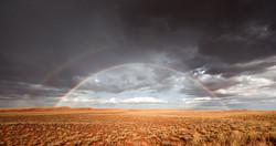 Red sand rainbow