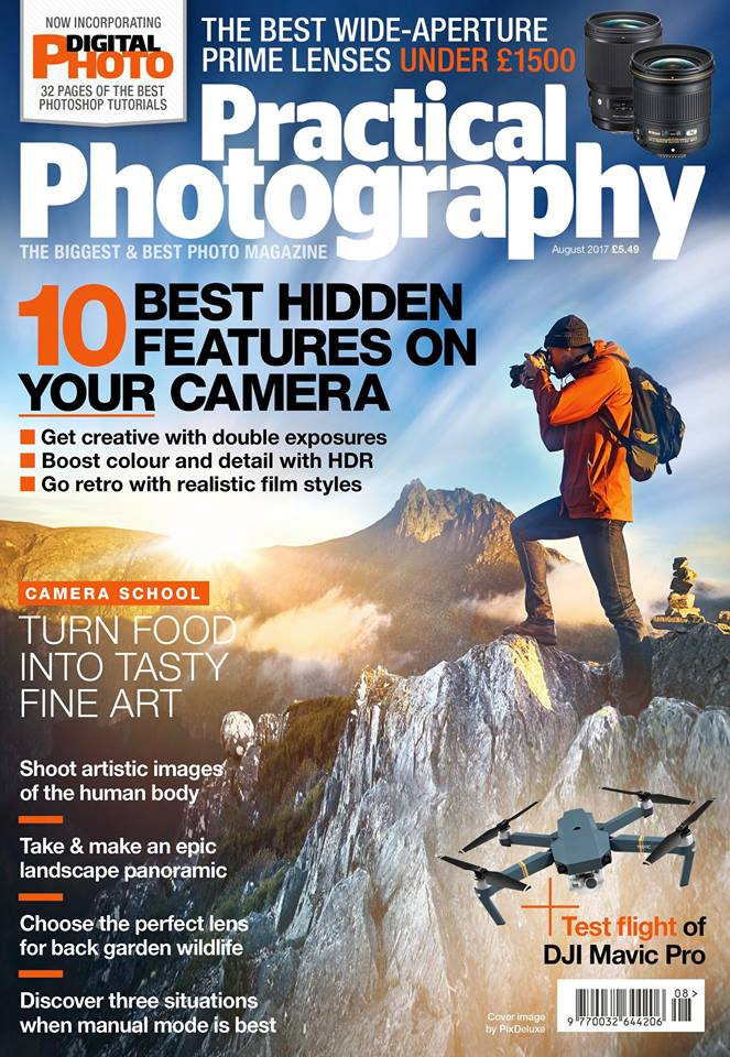 Practical Photography Magazine August 2017 cover