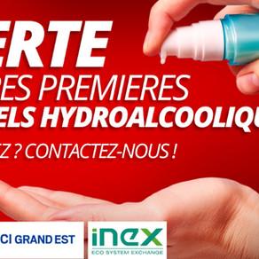 Covid-19: iNex Circular connecte les producteurs et les fournisseurs de gel hydro-alcoolique
