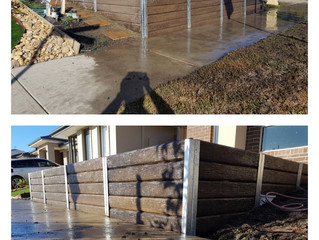 Landscaping and Concrete Sleeper Walls