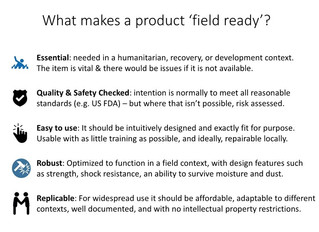 """Exploring """"field readiness"""" of items"""