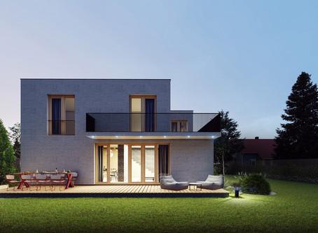 Dvojpodlažný dom pre mladú rodinu