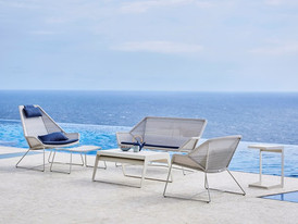 Breeze lounge, white chill-out single table