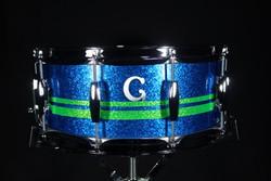 Blue Sparkle w/Neon Stripes