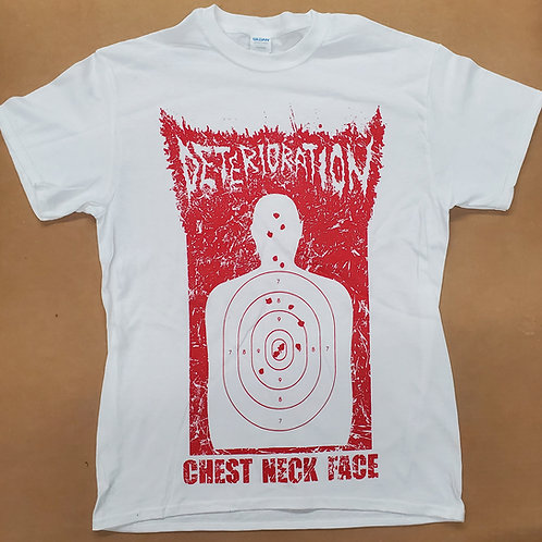 Deterioration - Chest Neck Face T-shirt (white)