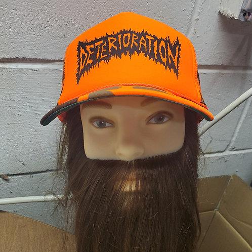 Deterioration Orange Camo Hat