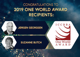 ICCBBA ONE WORLD AWARD RECIPIENTS - 2019