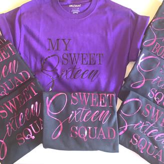 Custom Sweet Sixteen Birthday Squad