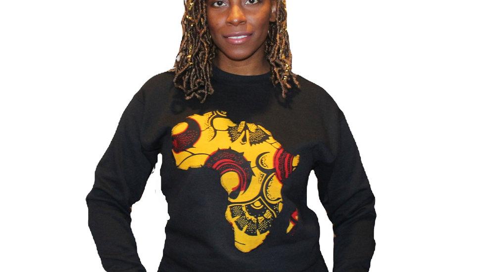 Africa Crewneck - Gold