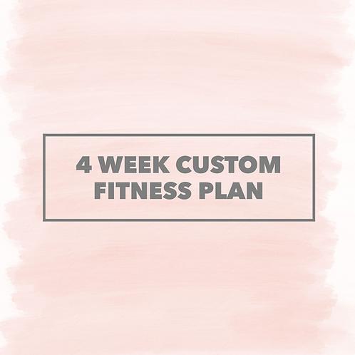 4 Week Custom Fitness Plan