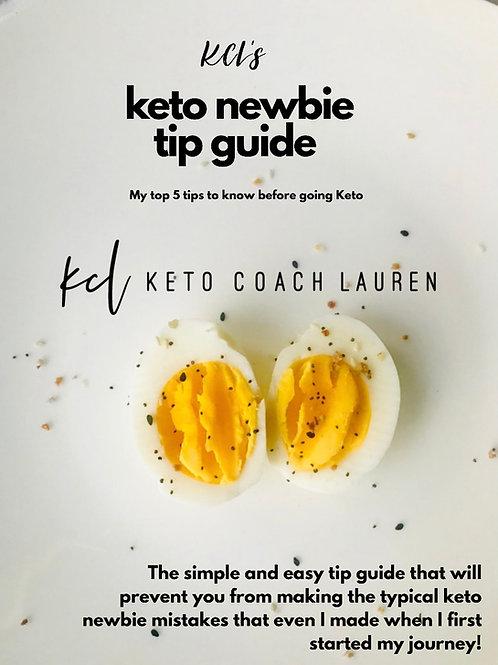 Keto Newbie Tip Guide