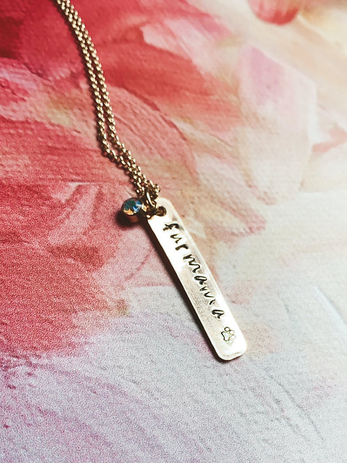 GOLD Fur Mama Hand Stamped Necklace