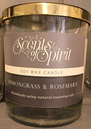 Lemongrass and Rosemary Soy Wax Candle