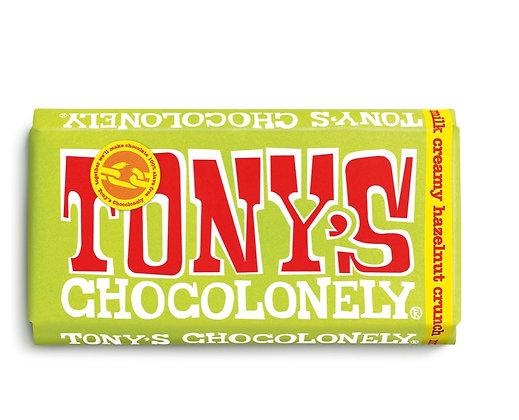 Tony's Chocolate  180g - Milk chocolate creamy hazelnut crunch