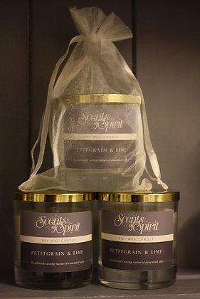 Petitgrain & Lime Soy Wax Candle