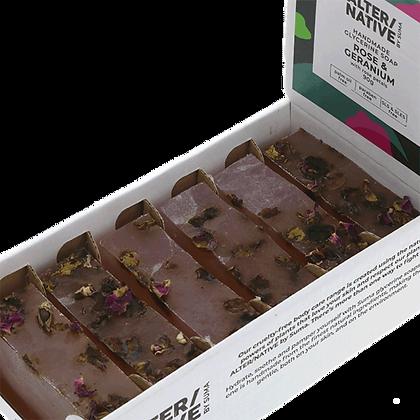 Rose and Geranium soap 90g