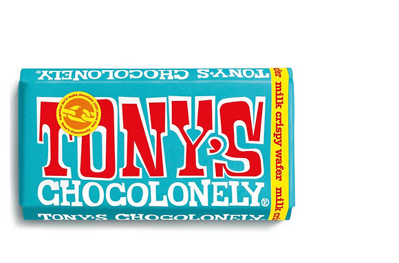 Tony's Chocolate  180g - Milk chocolate crispy wafer