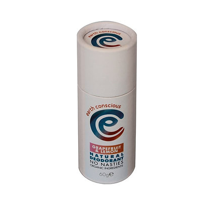 Earth Conscious Natural Deodorant Stick - Grapefruit + Lemon
