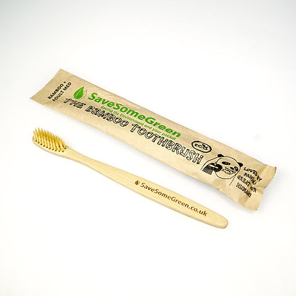 Bamboo Toothbrush - Adult Compact + Firm