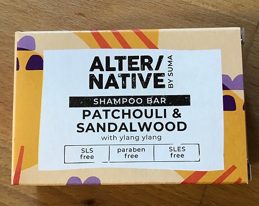 Alternative Patchouli and Sandalwood Shampoo bar