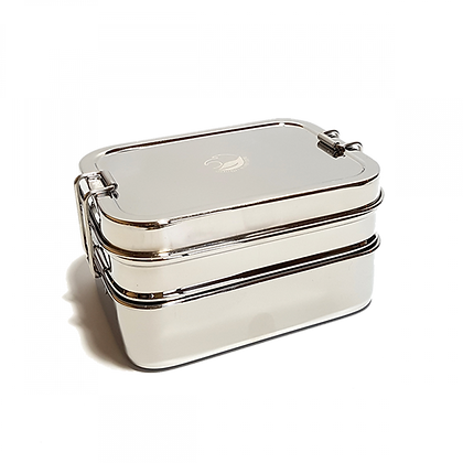 2 Tier Rectangular Lunchbox with Mini snack box