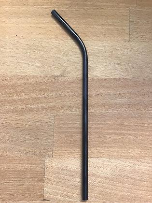 Blue 12mm metal straw