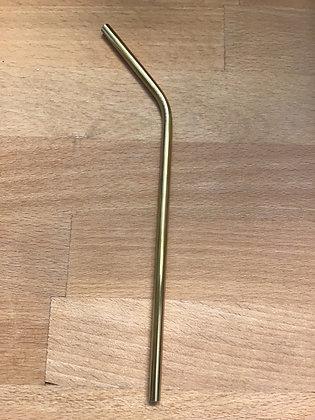 Gold 12mm metal straw