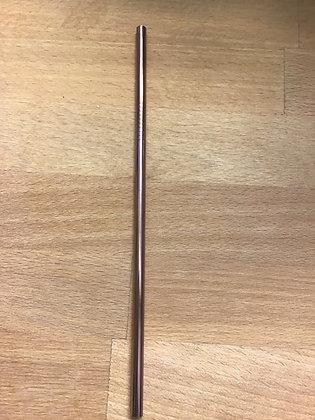 Rose gold 12mm  straw