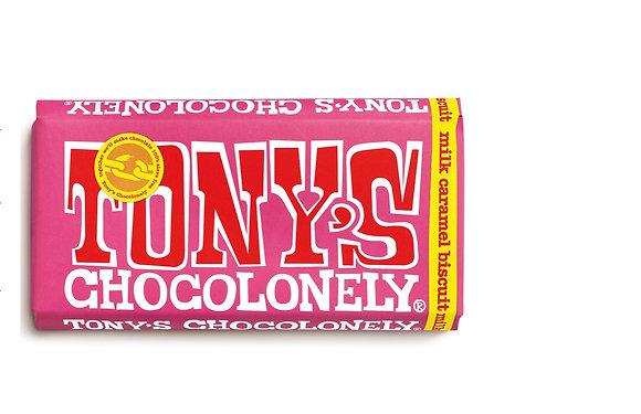 Tony's Chocolate  180g - Milk chocolate caramel biscuit