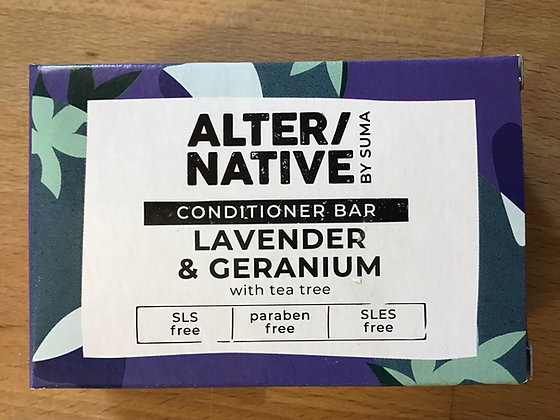 Alternative Lavander and Geranium Conditioner bar