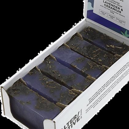 Lavender and Geranium soap 90g