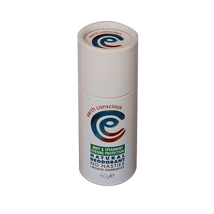 Earth Conscious Natural Deodorant Stick - Peppermint + Spearmint