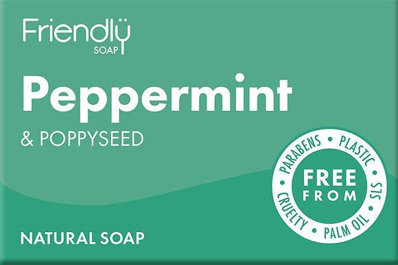 Friendly Soap - Peppermint & Poppy Seeds