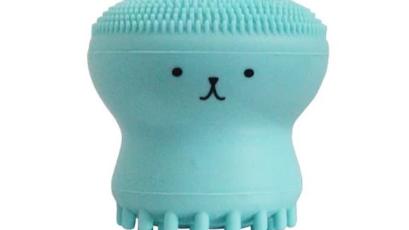 Silicone Facial Wash Octopus Deep Cleansing Exfoliating Tool - PINK or TURQUOISE