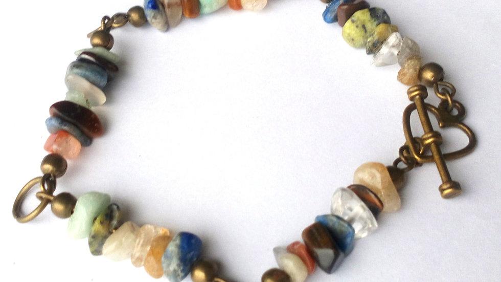 OOAK gemstone handmade bracelet