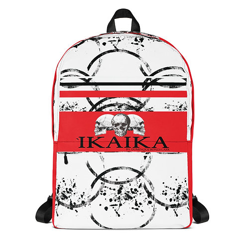 Red Geo Graphic Backpack