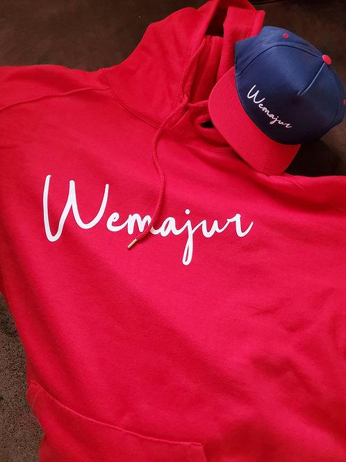 Red Wemajur Elegance hoodie/Navy snap back