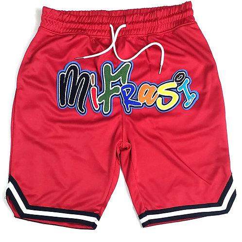 Red MIFRASI premium basketball short