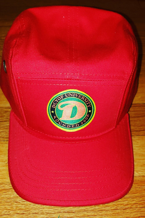 RED D.C.Y.O.P UNIVERSITY LIBERATION 5 PANEL STRAPBACK