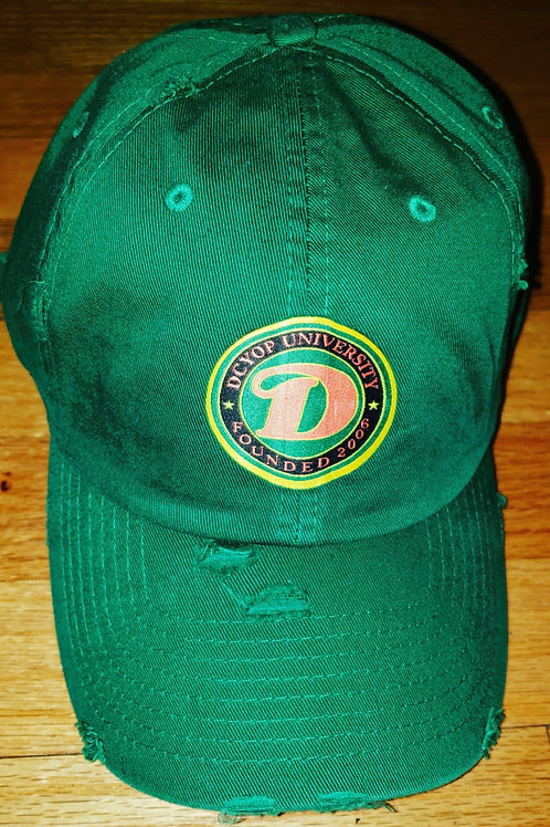 Green D.C.Y.O.P. UNIVERSITY LIBERATION DISTRESSED  STRAP BACK HAT