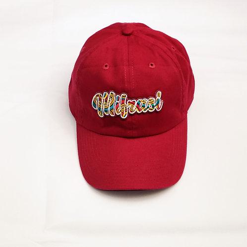 MAROON MIFRASI STRAP BACK DAD HAT