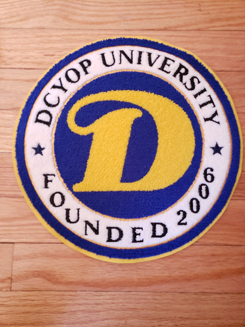 LARGE D.C.Y.O.P UNIVERSITY CHENILLE PATCH