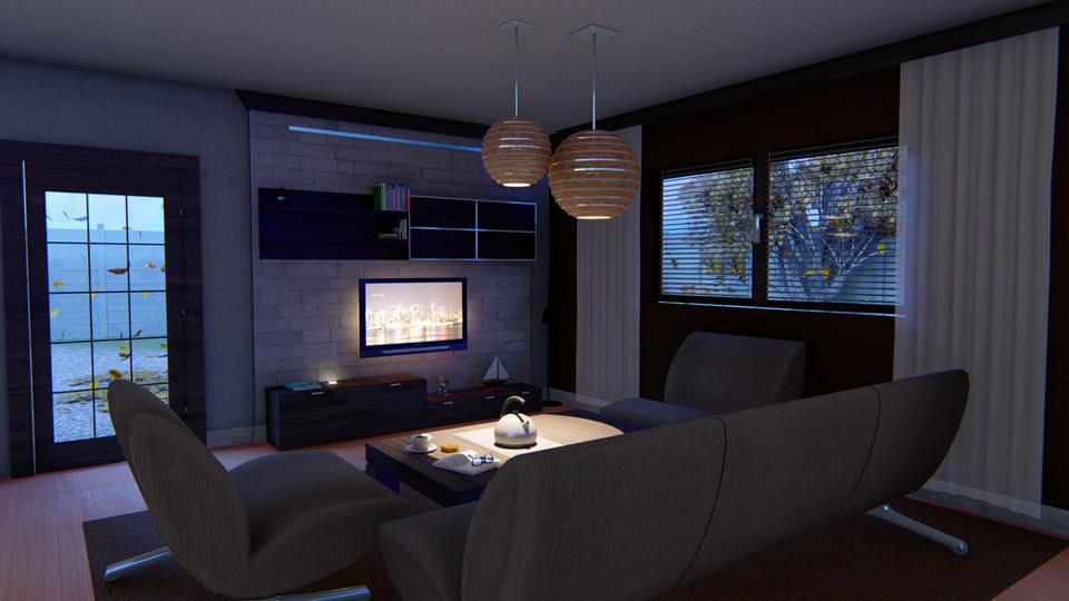 Living Room Night