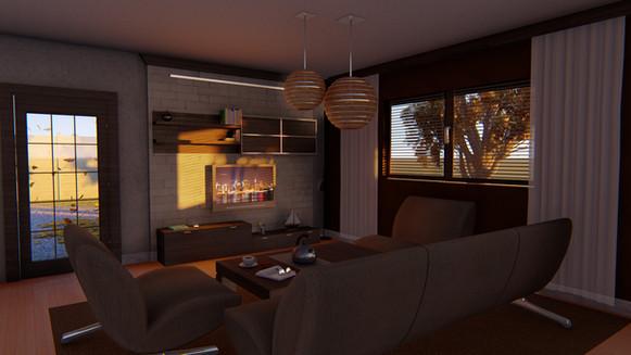 Living Room Dusk